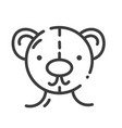 trendy line style icon about sewing toys teddy vector image