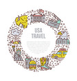 usa symbols in line style vector image