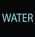 water icon logo - ecology concept vector image vector image