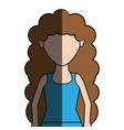 young woman with hairstyle and casual cloth vector image vector image