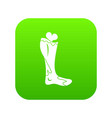 zombie leg icon digital green vector image
