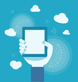 business concept of internet cloud vector image
