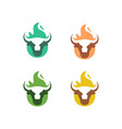 abstract cow fire concept design template vector image