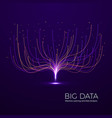big data machine learning and data analysis vector image vector image