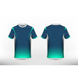 blue green and white layout e-sport t-shirt vector image vector image