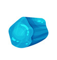 bright blue aquamarine shiny precious stone vector image