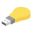 bulb usb flash icon isometric style vector image vector image