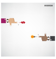 Businessman hand shooting creative light bulb conc vector image