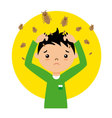 child with lice vector image vector image