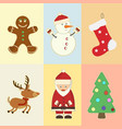 christmas and new year attributes and symbols vector image vector image