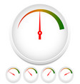 circle dial gauge template editable vector image vector image