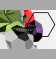 color 3d geometric composition poster vector image