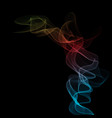 color realistic smoke vector image