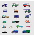 color set with transportation icon vector image