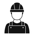 construction man icon simple style vector image