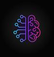 cyberbrain creative outline icon - ai brain vector image vector image