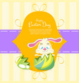 easter sales background with rabbit vector image vector image