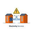 electricity repair and maintenance vector image