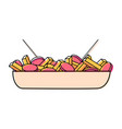 fast food object vector image