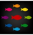 Fish sign vector image