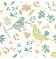 Floral seamless with birds vector image vector image