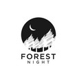 forest night logo design template vector image