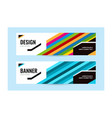 horizontal banners with bright line blue vector image vector image