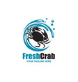 image with crab vector image vector image