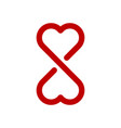 infinity love symbol vector image vector image