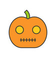 jack o lantern halloween related icon filled vector image vector image