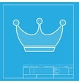 King crown sign White section of icon on vector image vector image