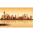 Las Vegas city skyline silhouette background vector image vector image
