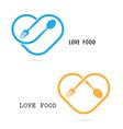 Love Food Logo vector image vector image