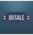 Memorial Day Sale greeting Label and Ribbon vector image vector image