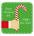 Merry Chistmas and Happy New Year vector image vector image