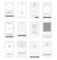 Mobile Screens wireframe User Interface Kit vector image