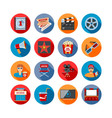 Movie Long Shadow Icons vector image vector image