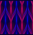 neon lines seamless pattern background with vector image vector image