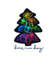 new year card invite holiday tree vector image