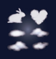 nightly background with clouds set with several vector image vector image