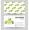 Organic fresh food farmer business card vector image