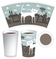 paper cup for tea or coffee vector image vector image