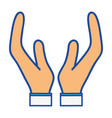 person hands symbol vector image