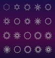 Polygons and polygrams sacred geometry set vector image