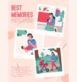 poster best memory photo studio concept vector image vector image