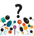 question mark with microphones isolated new vector image
