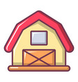 red horse barn icon cartoon style vector image vector image