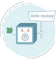 safe money concept in line art style vector image vector image