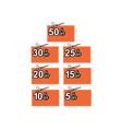 Scissors Cutting Coupon Per Cent Sign vector image