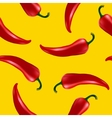 seamless pattern with red chilli pepper vector image vector image